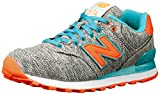 New Balance Classics Women's WL574 - Glitch Tidepool 7 B - Medium