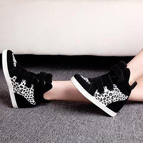 Tefamore Zapatos de Mujer Dentro de un Aumento Alto de Botas de Anti-deslizante de Suave Moda Otoño Invierno Blanco