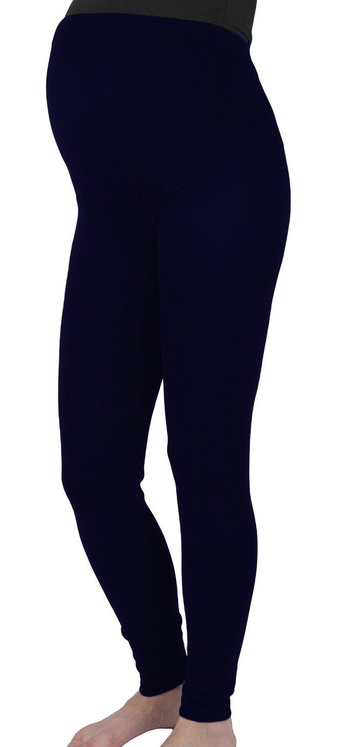Mija - Lange Umstandsleggings/Leggings warme für den Winter/Baumwolle 3006