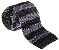 "Retreez Smart Casual Classic Stripe Men's 2.4"" Skinny Knit Tie - Various Colors"