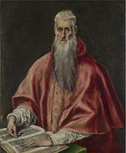 [The Perfect Effect Canvas Of Oil Painting 'El Greco - Saint Jerome As Cardinal,1590-1600' ,size: 16x19 Inch / 41x49 Cm ,this Replica Art DecorativePrints On Canvas Is Fit For Bathroom Artwork And Home Gallery Art And] (Lake Forest Halloween Costumes)