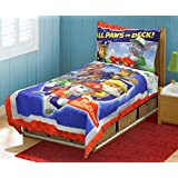 Paw Patrol 4pc TODDLER BEDDING SET, New, Blue, Fits Crib/toddler mattress