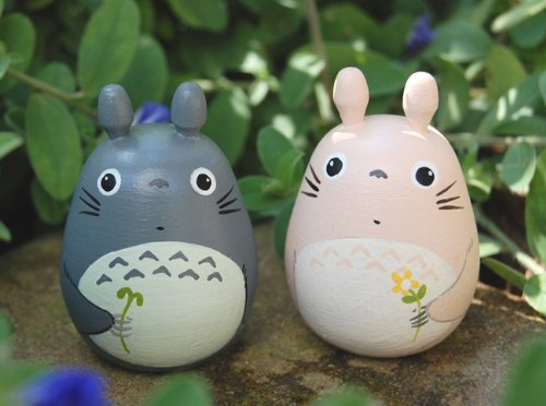 2 Tototo Lover Dolls Figurine Model Studio Ghibli Toy L Size #4 & 6 Cake Topping (Figurine Studio)
