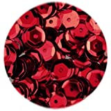 Efco Round Cupped Sequins, Red, 6 mm, 40 g, 4000-Piece