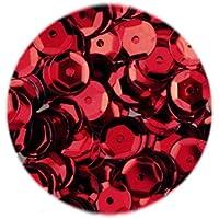 efco Lentejuelas ahuecadas Redondas, Color Rojo, 6mm, 40g