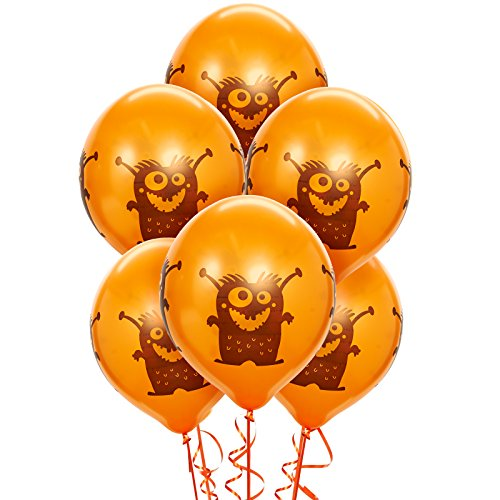 BirthdayExpress Aliens and Monsters Party Supplies - Latex Balloons -