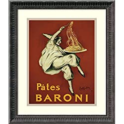 Framed Art Print, 'Pates Baroni (ca. 1921)' by Leonetto Cappiello: Outer Size 16 x 19""