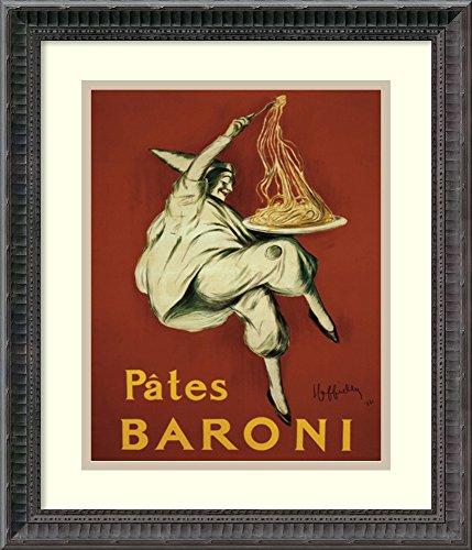 Framed Art Print, 'Pates Baroni (ca. 1921)' by Leonetto Cappiello: Outer Size 16 x 19