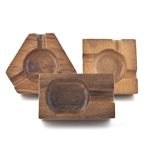 Cheap  Briar and Oak Wooden Cigar Ashtrays– The Mayan Line- 4 Styles to..