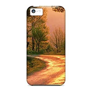 USMONON Phone cases Durable Case For The Iphone Iphone 5c- Eco-friendly Retail Packaging(i Love This Road Trip)