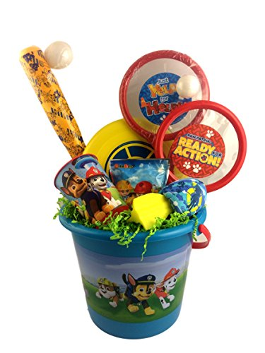 Deluxe Paw Patrol Sand Gift Basket Bucket for Boys Skye Chase Marshall for Birthday, Get Well, Surprise