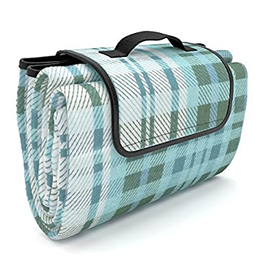#1 Picnic Blanket Waterproof EXTRA LARGE Quality Picnic Fleece | Best Picnic Gift for Mom | Best Beach Blanket Picnic Mat Beach Mat Outdoor Rug RV Mat for Picnic Basket and Picnic Backpack