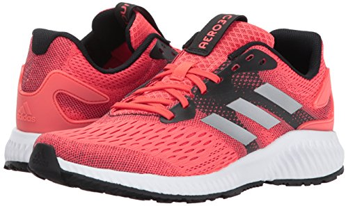 Adidas Performance Women's Aerobounce w Running Shoe, Easy Coral/Metallic Silver/Tactile Red, 9.5 Medium US