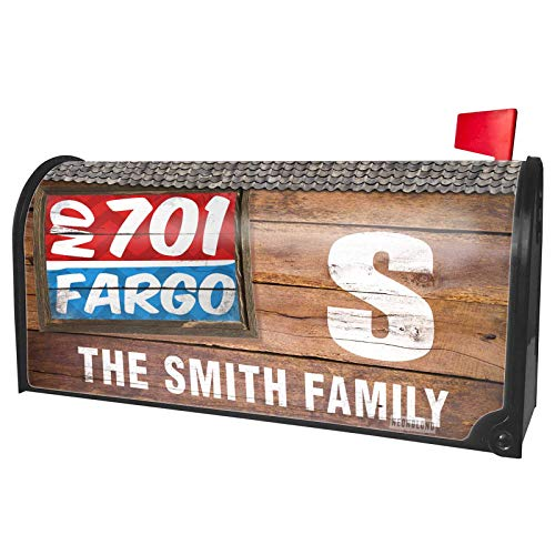 NEONBLOND Custom Mailbox Cover 701 Fargo, ND red/Blue]()