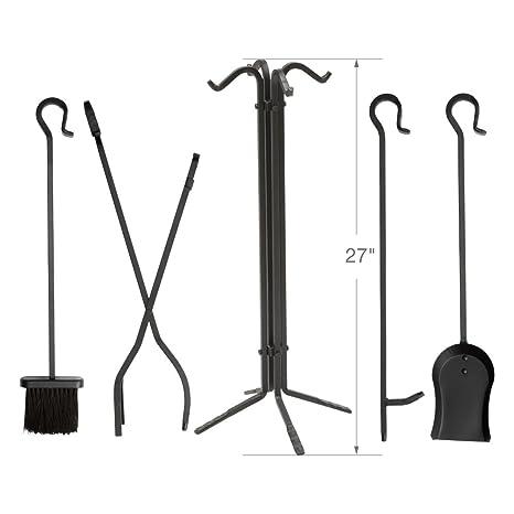 Amazon.com: Juego de herramientas para chimenea UniFlame ...