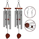 Cheap VenKoda 2 Pack Amazing Grace Wind Chimes Outdoor Personalized Sympathy Wind Chime Memorial Mother Gifts Metal Garden Decoration Patio Porch Bell Wind Chime Large for Friend and Family-24 Inch