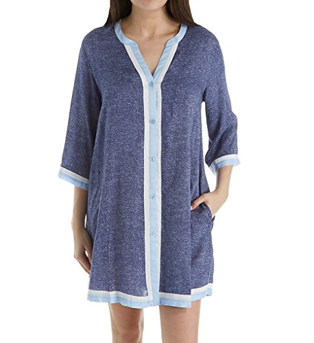 Donna Karan Sleepwear Peacoat Sleepshirt (D236920) S/Frosted Denim Print