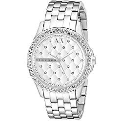Armani Exchange Women's AX5215 Analog Display Analog Quartz Silver Watch