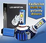 LED import USA led CREE XLamp MK-R Headlight Bulbs Kit H11 H9 H8 6000k 60w 7000LM