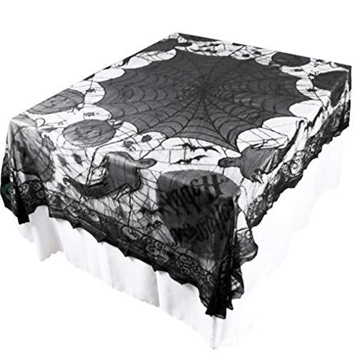 Tablecloth,YJYdada Ghost Pumpkin Webs Halloween Indoor Party Decor Tablecloth Table Decoration -