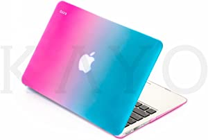 """KAYO - AIR 13-inch Rubberized Hard Case for MacBook Air 13.3"""" (A1466 & A1369) (Newest Version) Shell Cover - (Candy Swirl)"""