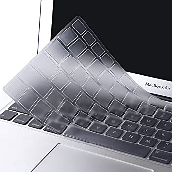 Mosiso Keyboard Cover for MacBook Pro 13 Inch, 15 Inch (with or without Retina Display, 2015 or Older Version) MacBook Air 13 Inch, Clear