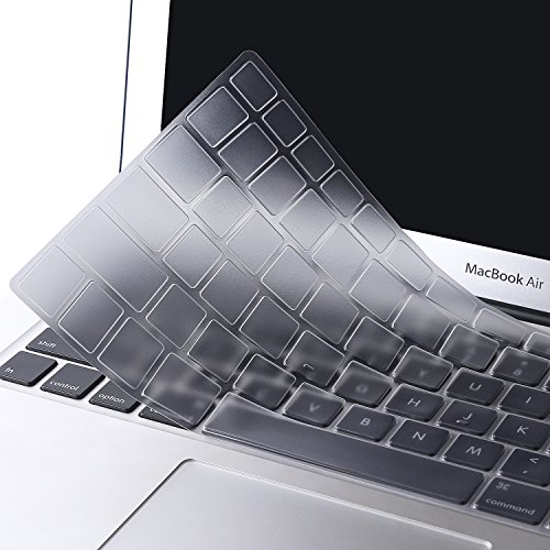 Mosiso Keyboard Cover for MacBook Pro 13 Inch, 15 Inch (with or without Retina Display, 2015 or Older Version) MacBook Air 13 Inch, Clear (Macbook Keyboard Cover 13)