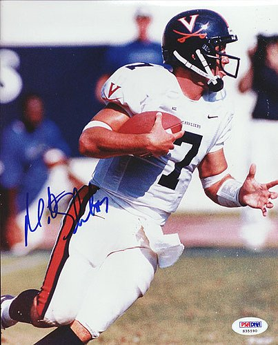 Matt Schaub Signed 8x10 Photograph Virgina - Certified Genuine Autograph By PSA/DNA - Autographed Photo