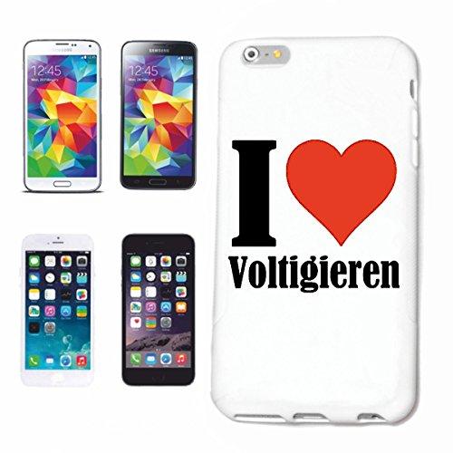 """Handyhülle iPhone 5 / 5S """"I Love Voltigieren"""" Hardcase Schutzhülle Handycover Smart Cover für Apple iPhone … in Weiß … Schlank und schön, das ist unser HardCase. Das Case wird mit einem Klick auf dein"""
