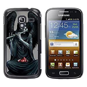 - Skull Devil Diablo Extraterrestrial - - Hard Plastic Protective Aluminum Back Case Skin Cover FOR Samsung GALAXY Ace 2 I8160 Queen Pattern