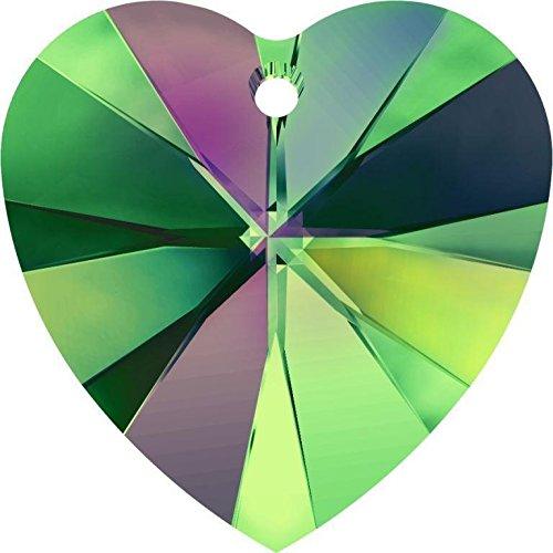 6228 Swarovski Pendant Xilion Heart Crystal Vitrail Medium | 18mm - Pack of 1 | Small & Wholesale ()