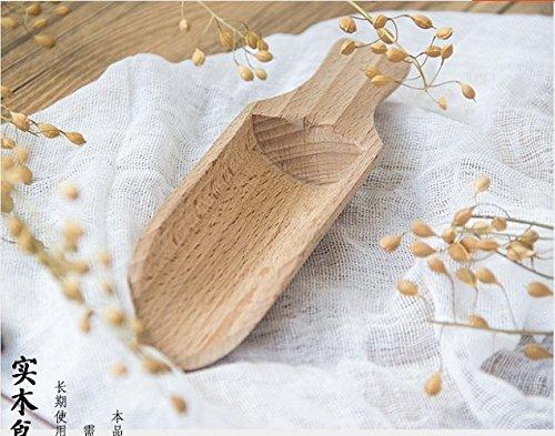 Astra Gourmet Set of 2 Beech Wood Scoop, 6-Inch