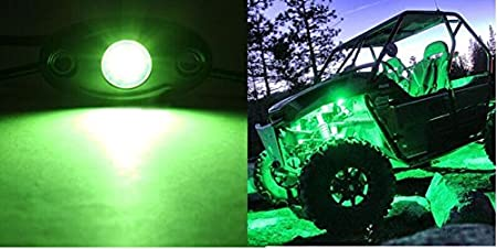 LED Rock Light Kits with 6 pods Lights for JEEP Off Road Truck Car ATV SUV Motorcycle Under Body Glow Light Lamp Trail Fender Lighting White