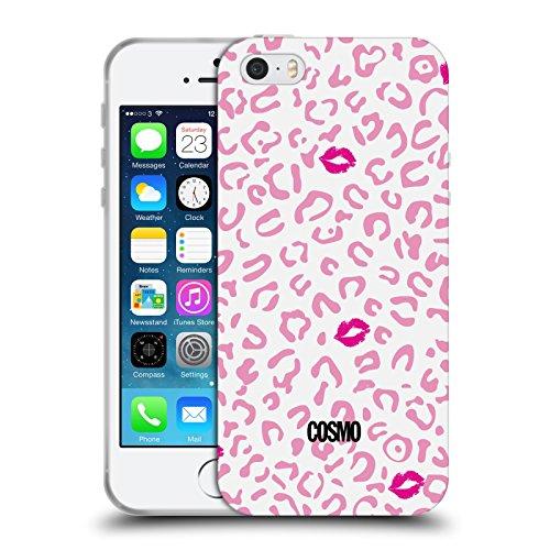Official Cosmopolitan Pink Sassy Leopard Soft Gel Case for Apple iPhone 5 / 5s / SE