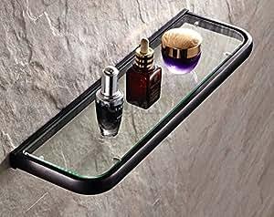 Rozin Oil Rubbed Bronze Bathroom Glass Shelf Wall Mounted