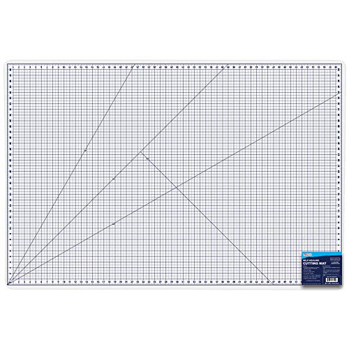 U.S. Art Supply 40″ x 60″ WHITE/BLUE Professional Self Healing 5-6 Layer Double Sided Durable Non-Slip PVC Cutting Mat Great for Scrapbooking, Quilting, Sewing and all Arts & Crafts Projects