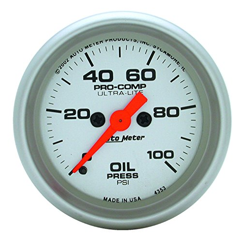 Auto Meter 4353 Ultra-Lite Electric Oil Pressure Gauge - Sk Pressure Socket