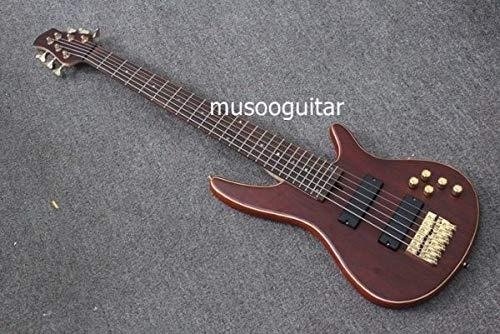 ベースギター 6弦 40インチ ブラウン ノーブランド   B07HCS95CD