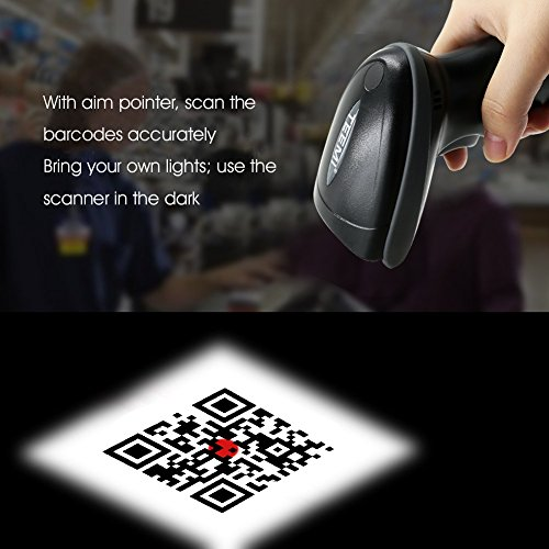UPGRADED TEEMI TMSL-55 QR Bluetooth Barcode Scanner USB wireless Automatic 2D PDF417 Data Matrix image reader for Apple iOS, Android, Windows 10, Mac OS device by TEEMI (Image #3)
