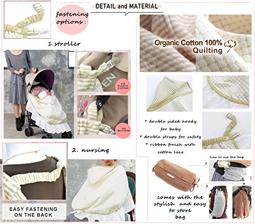 Sweet Mommy Maternity and Nursing 3-in-1 Cotton Baby Cover Brown, F by Sweet Mommy (Image #5)