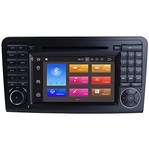 Topnavi Two Din Android 8.0 32GB Octa Core 7Inch Car DVD Player for Benz ML Class W164 2005-2013/ML350/430/450/500/GL Class X164 GL320 Auto GPS Navigation RDS Bluetooth 3G Wifi Audio Radio Stereo