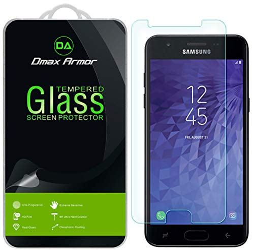 Samsung Galaxy J3 Orbit Screen Protector, [2-Pack] Dmax Armor Tempered Glass for Samsung Galaxy J3 Orbit with Lifetime Replacement
