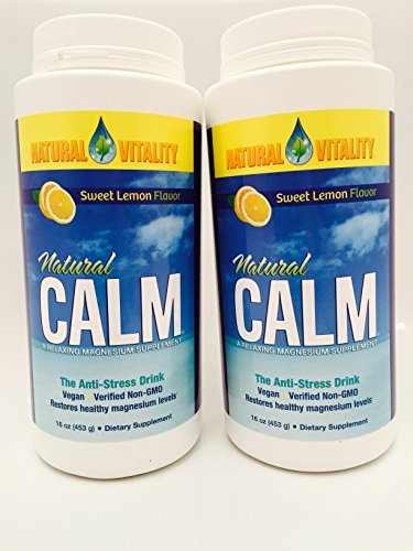 Natural Vitality Natural Calm Lemon - 16 Oz (Pack of 2)
