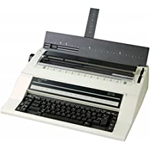 NAKAJIMA AE-740S Electronic Typewriter with Spanish Keyboard, 2cps Print Speed, 112K Storage Memory, 40 Character LCD with Contrast Control, Adjustable Display Panel, Programmable Paper Insertion
