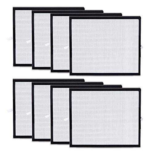 Alen HEPA-OdorCell Replacement filter for the BreatheSmart FIT50 Air Purifier addresses Allergies, Asthma, and Dust while stands out in its ability to capture Smoke and Pet Odors, FF50-MP-8, 8-Pack