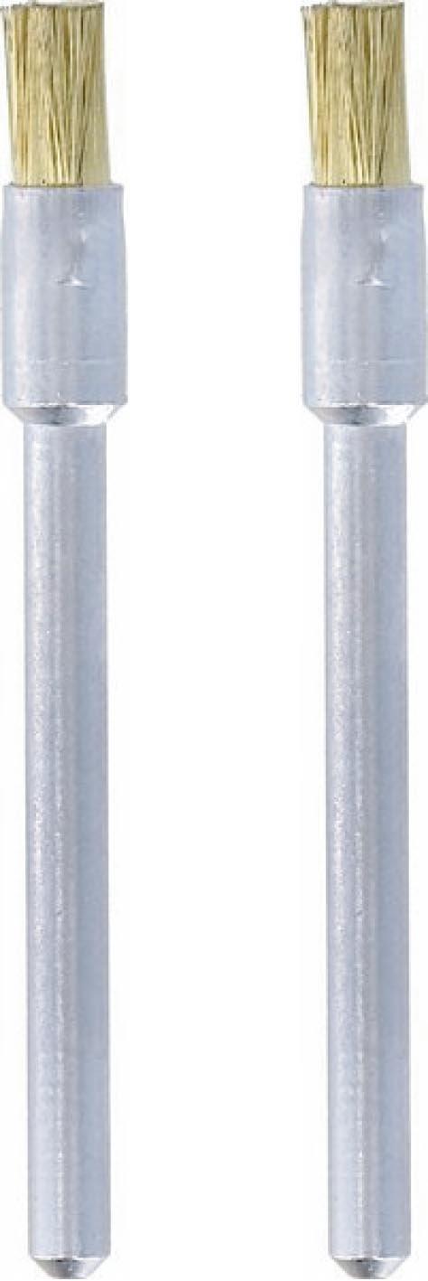 """Dremel 537-02 Brass Brushes (2 Pack), 1/8"""""""