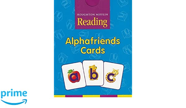 photograph relating to Alphafriends Printable identify Houghton Mifflin Pre-K: Alphafriends Playing cards Quality Pre K
