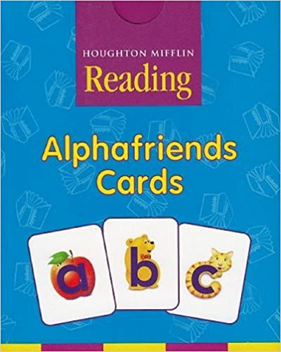image regarding Alphafriends Printable identified as Houghton Mifflin Pre-K: Alphafriends Playing cards Quality Pre K