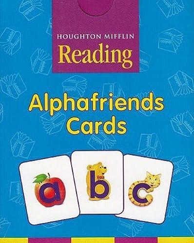 houghton mifflin pre k alphafriends cards grade pre k houghton rh amazon com Pre-K Teacher T-Shirts Pre-K Teacher T-Shirts