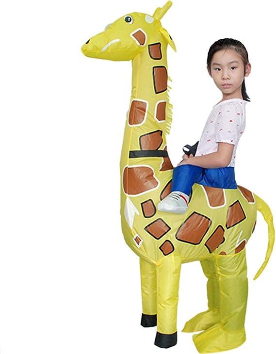 AFuex Disfraz Inflable de Jirafa Inflable para Halloween ...